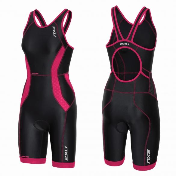 2XU Perform tri suit y-back black/pink women    WT3636d