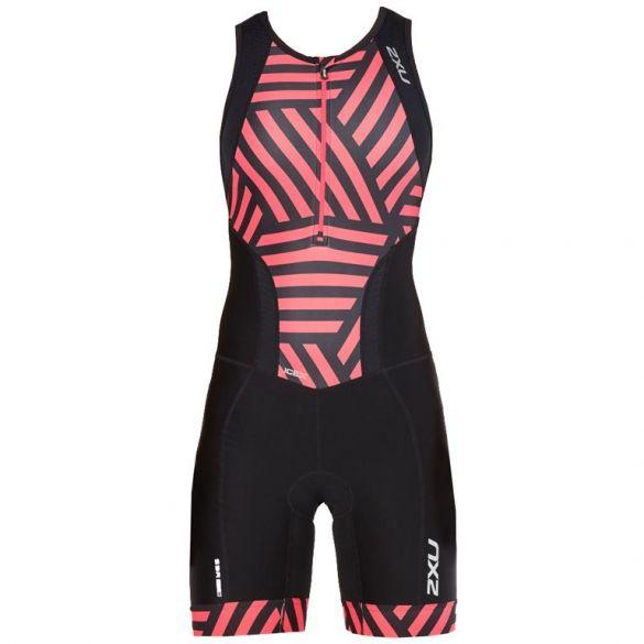 2XU Perform sleeveless trisuit black/red women  WT4855d-BLK/GMN