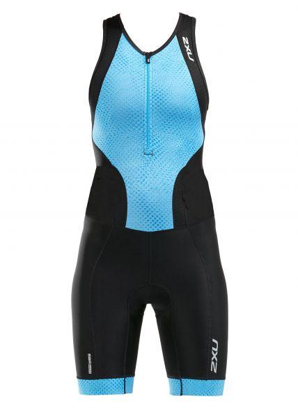 2XU Perform sleeveless trisuit black/blue women  WT5533d-BLK/AQM