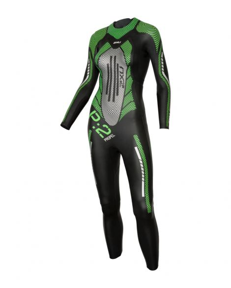 2XU P:2 Propel full sleeve wetsuit black/green women  WW4993c-BLK/MTG