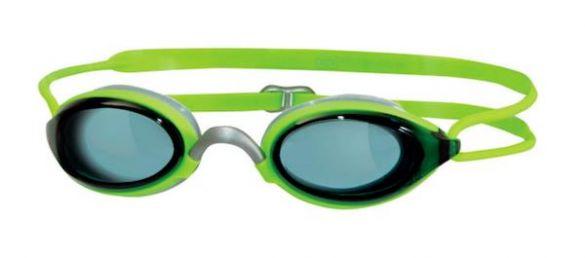 Zoggs Fusion air dark lens goggles green  302755