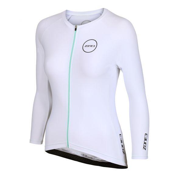Zone3 Lava Aero long sleeve tri top wit women  TW20WLTL102