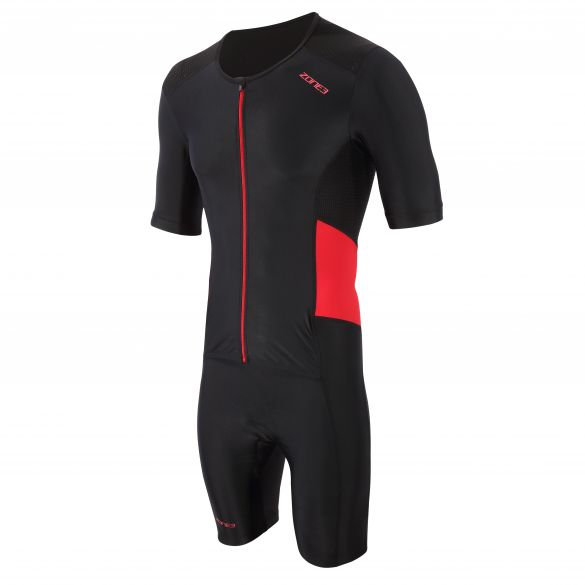 Zone3 Activate trisuit short sleeve black/red men  TS21MACTS108