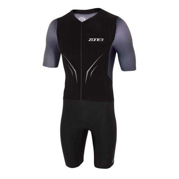 Zone3 Aeroforce X short sleeve trisuit black/gray men  TS20MAFS101