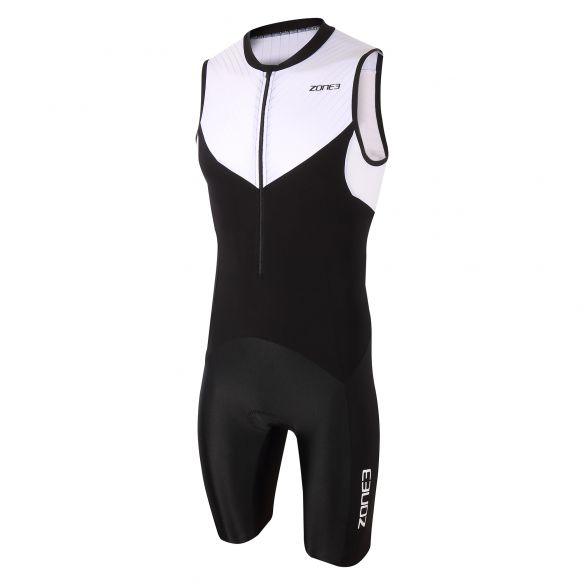 Zone3 Lava long distance sleeveless trisuit black/white men  TS20MLTS101