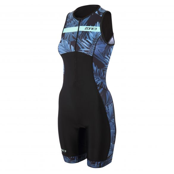 Zone3 Activate plus tropical palm trisuit sleeveless women  TS21WACP103