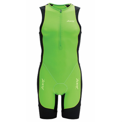 Zoot performance tri racesuit men's green flash/black 2014