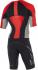 2XU Compression Full Zip sleeved trisuit black/red/grey men   MT4442dFSC/FRG