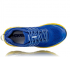 Hoka One One Clifton 6 wide running shoes blue/yellow men  1102876-NBLM